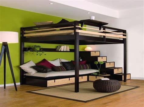 lit mezzanine deux places avec lit de luxe lit 2 places