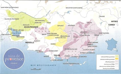 provence map the underground wine letter provence wine map
