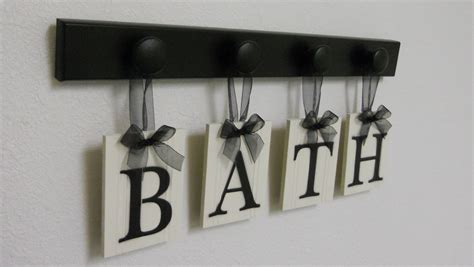 Handmade Bath - bath sign personalized handmade hanging letters set includes