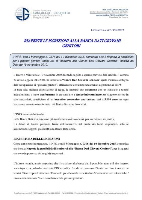 Banca Dati Giovani by Riaperte Le Iscrizioni Alla Banca Dati Giovani Genitori