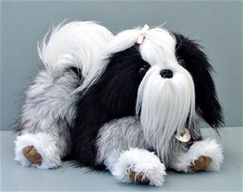 stuffed shih tzu stuffed plush shih tzu handbag from stuffed ark