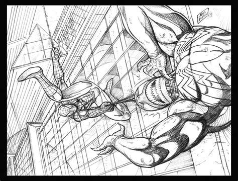 venom spiderman drawing cake ideas and designs