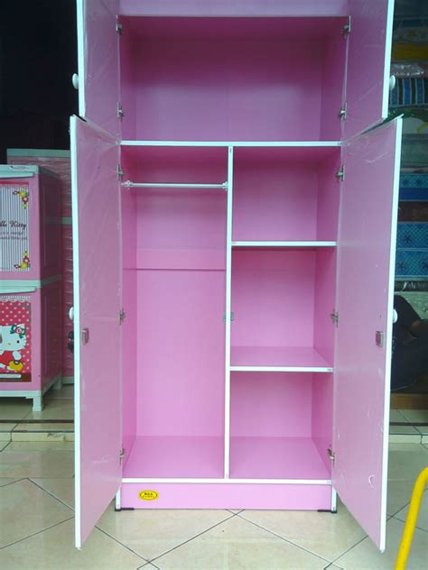 Lemari Kayu Hello Kity lemari dan meja belajar panel 187 kea panel 187 lemari hello licensed lovely 8088 harga