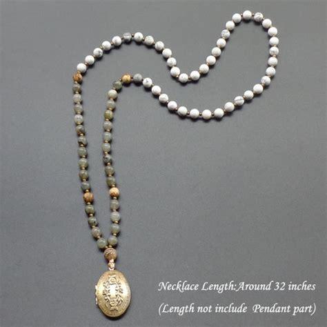 Sodalite Necklace Kalung Batu Alam aliexpress buy retro flowers locket necklace mala necklace