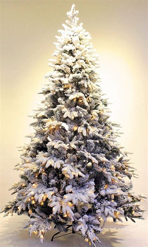 pre lit real feel flocked alpine spruce artificial
