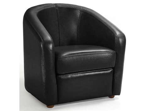 fauteuil cuir novi coloris noir conforama pickture