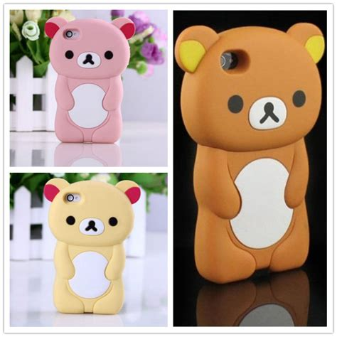 Rilakkuma Softcase Iphone 4 4s 5 5s S4 Limited for iphone 5 3d rilakkuma brown cover for iphone se silicone phone cases for