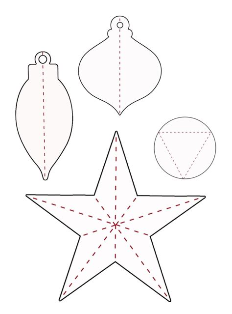 paper ornament templates best photos of 3d ornament templates 3d
