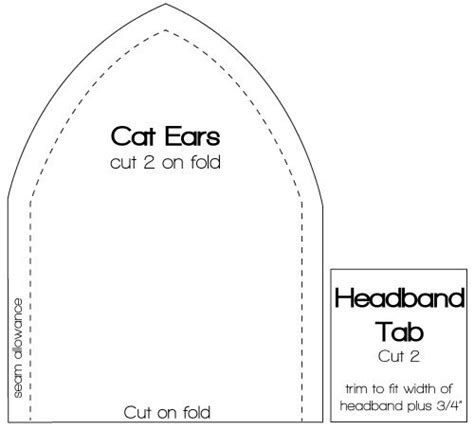 cat ear template the world s catalog of ideas