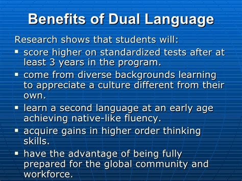 Pros Of Dual Mba Degrees by Dual Language Program