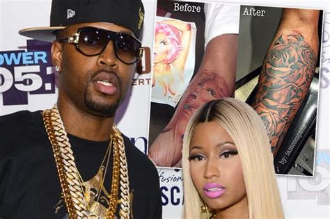 safaree tattoo nicki minaj s ex safaree samuels gets of