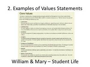 values statement template a zsr values statement