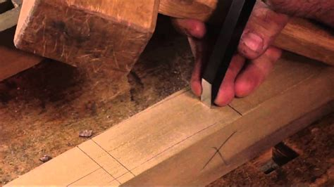traditional woodworking demonstration joining dovetail