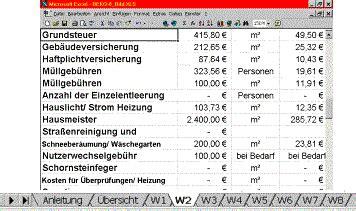 Muster Nebenkostenabrechnung Word excel betriebskostenabrechnung betriebskosten
