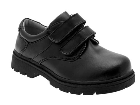 boys sandals size 13 boys black leather school shoes velcro size 9 13 ebay