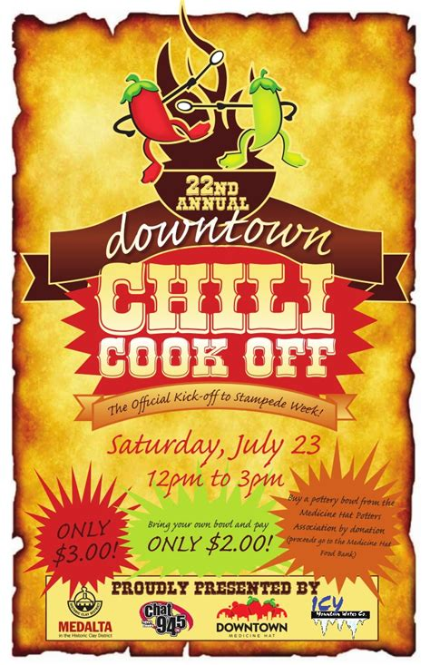 Chili Cook Off Poster Kicks Flyer Template 2