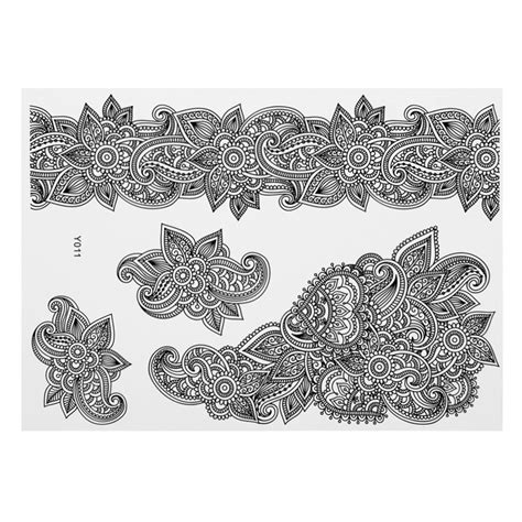 design henna lace latest design henna ink lace temporary flash tattoo body