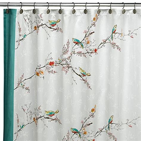 lenox chirp shower curtain lenox 174 simply fine chirp fabric shower curtain bed