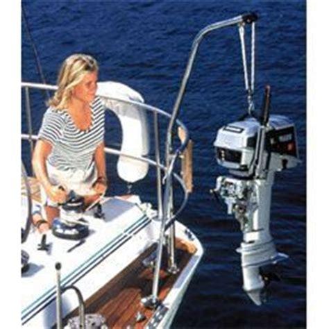 boat outboard motor lift forespar nova lift defender marine