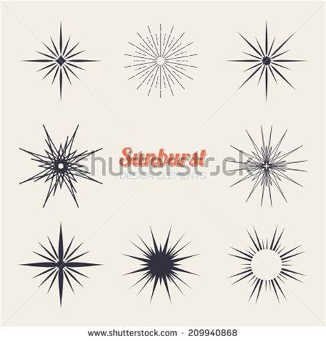 sunburst tattoo designs starburst ink shape vintage and