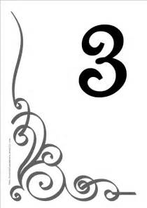 table number templates free flourish printable diy table numbers free table numbers
