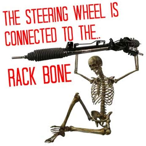 Rack Bone by The Steering Wheel Is Connected To The Rack Bone Which Is