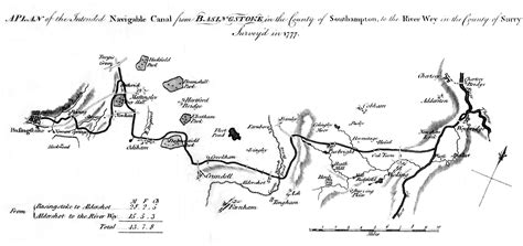 navigating the river thames map history of the canal the basingstoke canal society