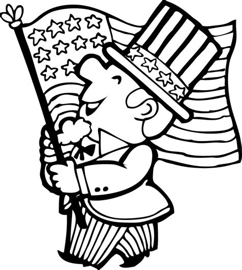 printable coloring pages for july 4th 4th of july parade coloring pages hellokids com