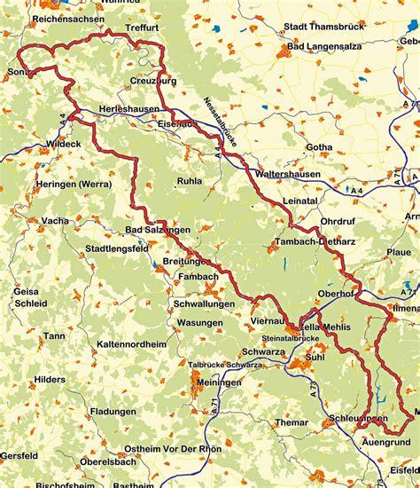 Motorrad Landkarten Deutschland by Motorradtouren Th 252 Ringen Karte Hanzeontwerpfabriek