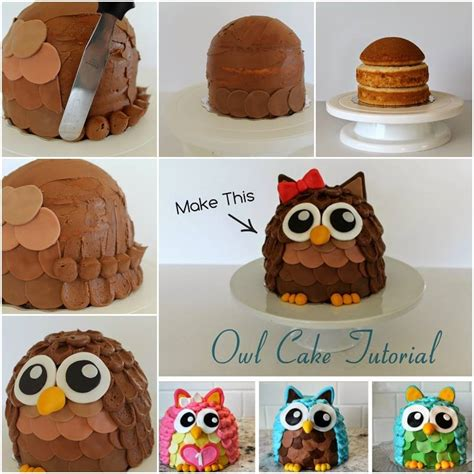 diy cake wonderful diy super cute owl cake