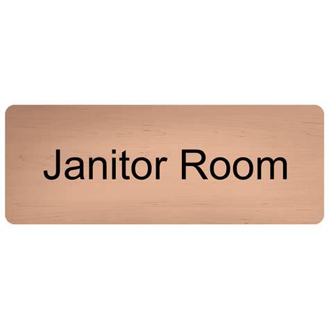 room name signs janitor room engraved sign egre 377 blkoncshw wayfinding room name