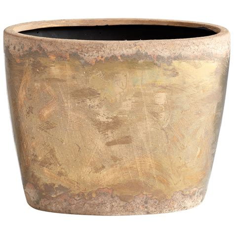 small planter small ceramic bronze planter by cyan design