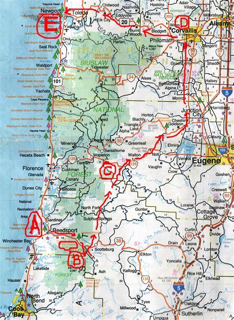 map of oregon house ca 2006 oregon motorcycle trip
