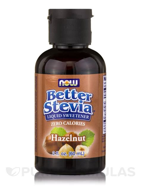 better stevia liquid sweetener better stevia liquid sweetener hazelnut 2 fl oz 60 ml