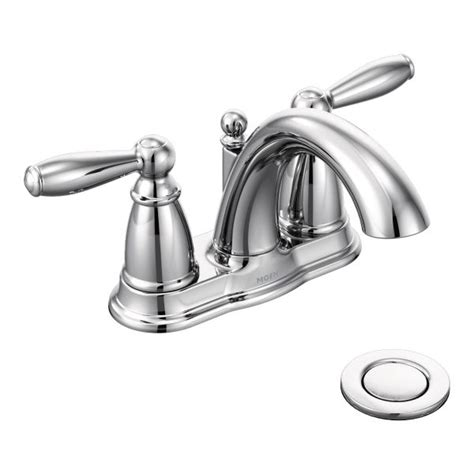 brantford chrome two handle high arc bathroom faucet