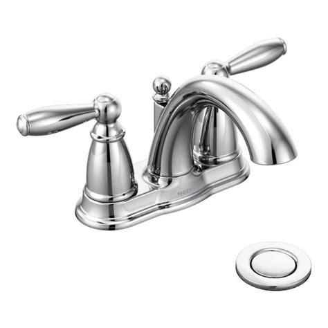 Brantford chrome two handle high arc bathroom faucet