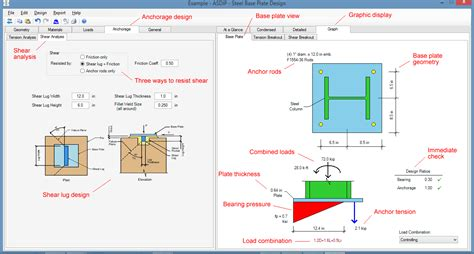 steel frame design exle asdip steel structural engineering software
