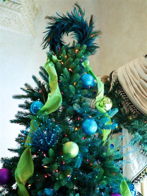 peacock christmas tree topper 4749