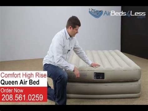 intex air mattress size high rise comfort air bed