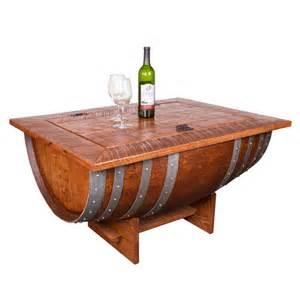 Wine Barrel Coffee Table Sale Wine Barrel Distressed Finish Coffee Table At Brookstone