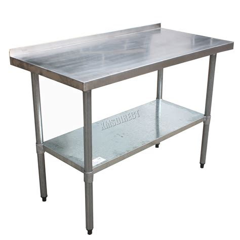 work bench table foxhunter stainless steel catering table backsplash work