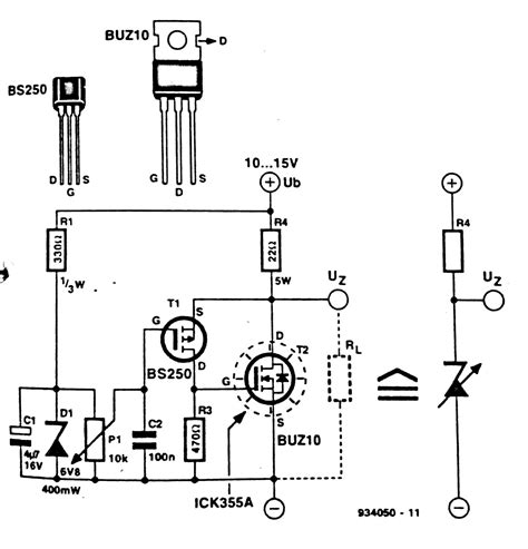 use of diodes in a circuit fast high power zener diode