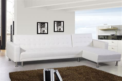 Canape Convertible Blanc by Canap 233 D Angle Design 5 Places Simili Cuir Blanc