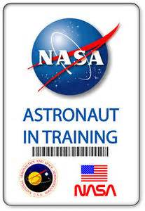 Name Badge Halloween Costume Prop Nasa Astronaut In Training Safety Pin Back Ebay Nasa Name Tag Template