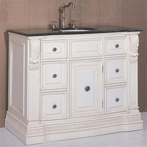 washington antique white single bathroom vanity single