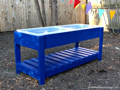 Water Table by White Sand And Water Play Table Diy Projects