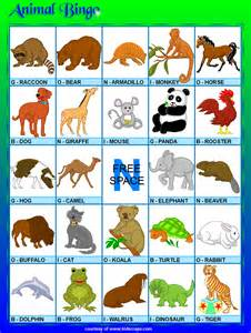 Free printable animal bingo games at kid scraps