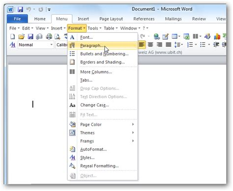 layout similar word bring office 2003 menus back to 2010 with ubitmenu