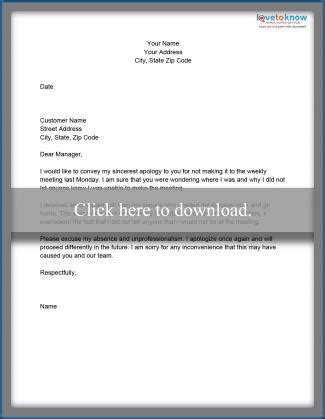 apology letter for missing sle business apology letters lovetoknow