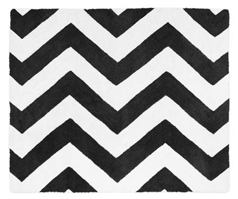 black and white zig zag rug black and white chevron zig zag accent floor rug by sweet jojo designs only 44 99